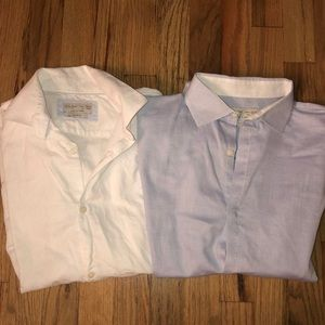Boys Zara 13/14 button down shirts blue & white